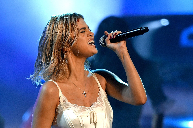 Selena Gomez sur scène. l Source : Getty Images