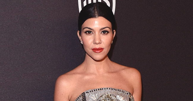 Kourtney Kardashian Avoids a Wardrobe Malfunction with a Well-Placed Emoji