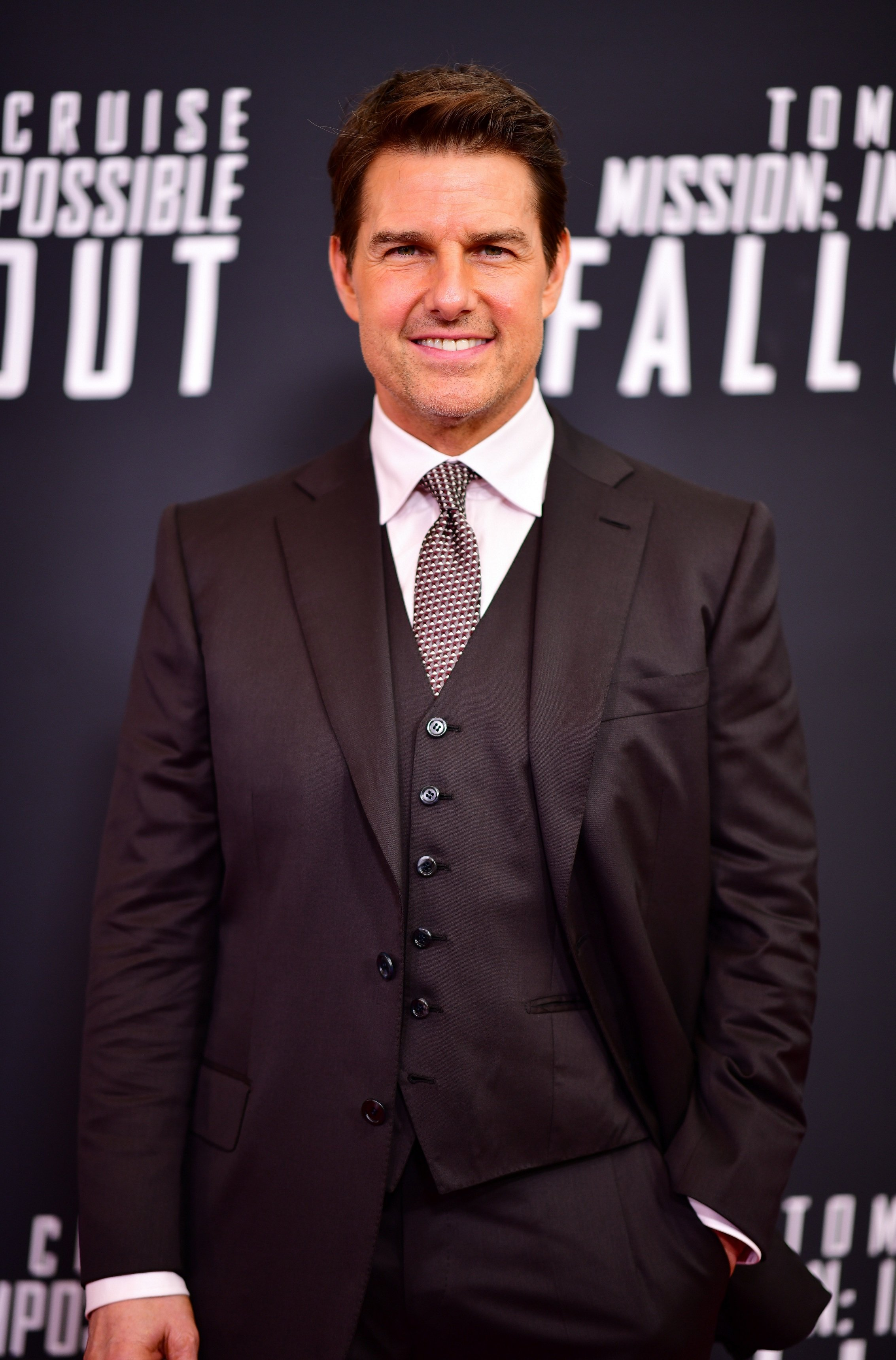 Tom Cruise attends the 'Mission: Impossible - Fallout' U.S. Premiere on July 22, 2018, in Washington, D.C.   Source: Getty Images.