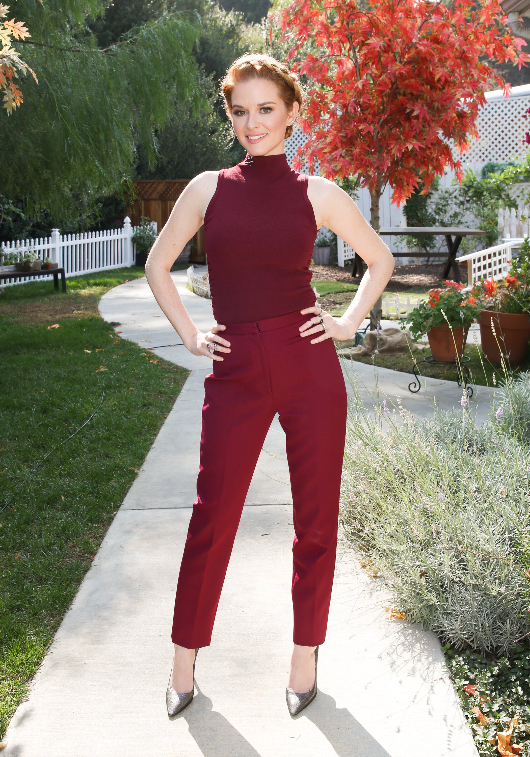 """Sarah Drew visits Hallmark's """"Home & Family"""" at Universal Studios Hollywood on October 22, 2018 in Universal City, California   Photo: Getty Images"""