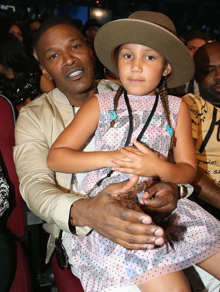 Jamie Foxx and daughter Annalise Bishop attend the 2016 BET Awards at the Microsoft Theater | Getty Images