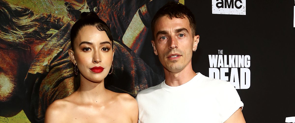 """Christian Serratos and Danish singer David Boyd at the Season 10 Premiere of """"The Walking Dead"""" at Chinese Theatre in Hollywood, California, on September 23, 2019 