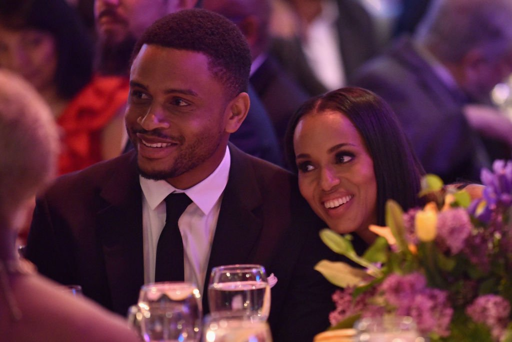 Former football player Nnamdi Asomugha and Honoree Kerry Washington attend the Bronx Children's Museum Gala at Tribeca Rooftop | Photo: Getty Images