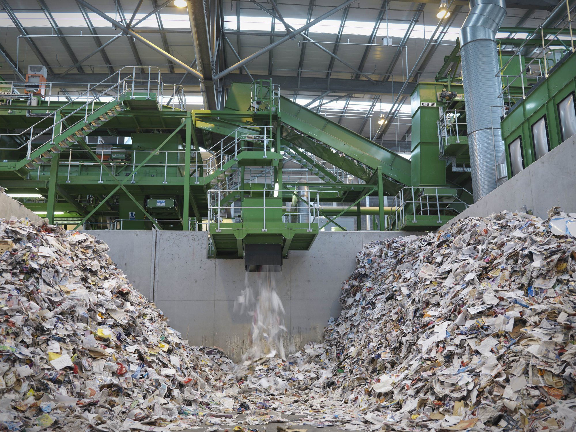Papierrecyclingmaschine I Quelle: Getty Images