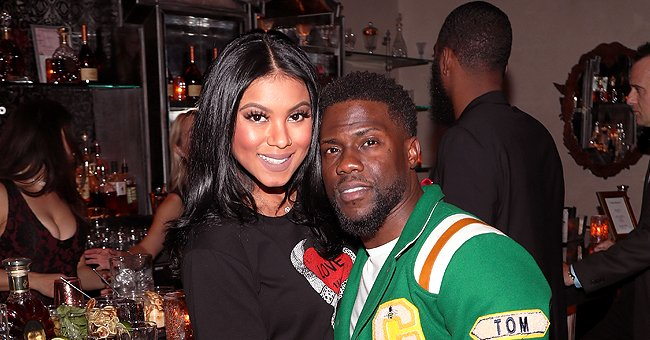 Kevin Hart's Wife Eniko Looks Cute Posing Next to a Baby Carriage in a Trendy Nude-Colored Outfit