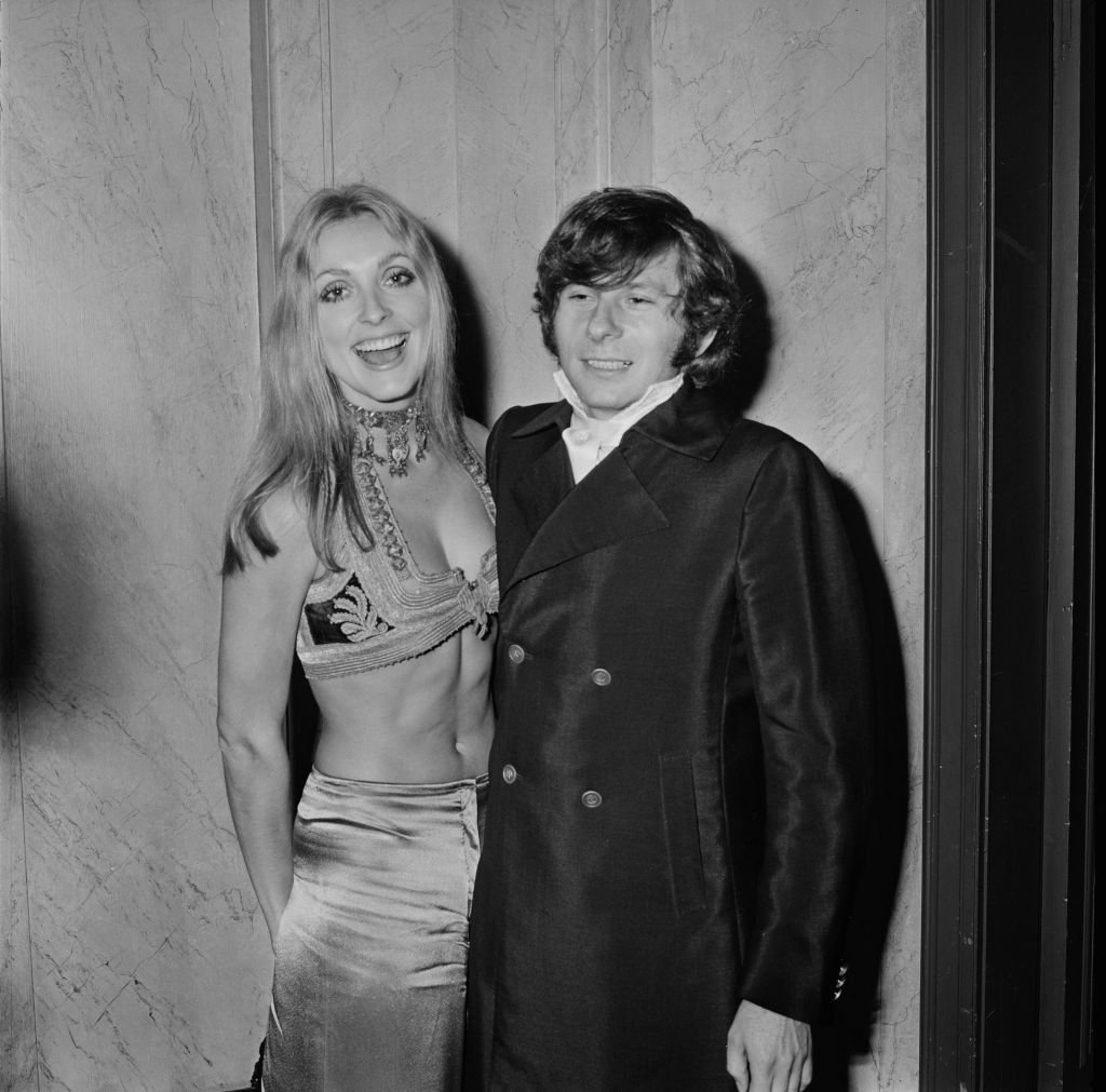 """Sharon Tate (1943 - 1969) with her husband, Roman Polanski, at the premiere of psychological horror film """"Rosemary's Baby,"""" in the UK, on 24th January 1969. 