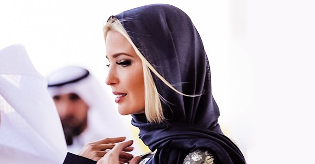 Ivanka Trump Stuns in Metallic Silk Gown & Black Headscarf in Photos from Dubai's Biggest Mosque