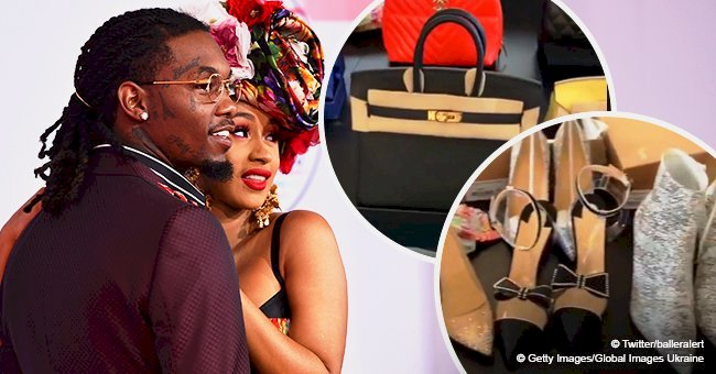 Cardi B flaunts expensive gifts from Offset, including shoes, purses & jewelry after their split
