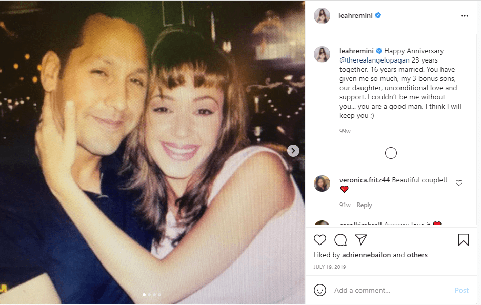 Image of Leah Remini and husband Angelo Pagan on Instagram | Photo: Instagram/leahremini