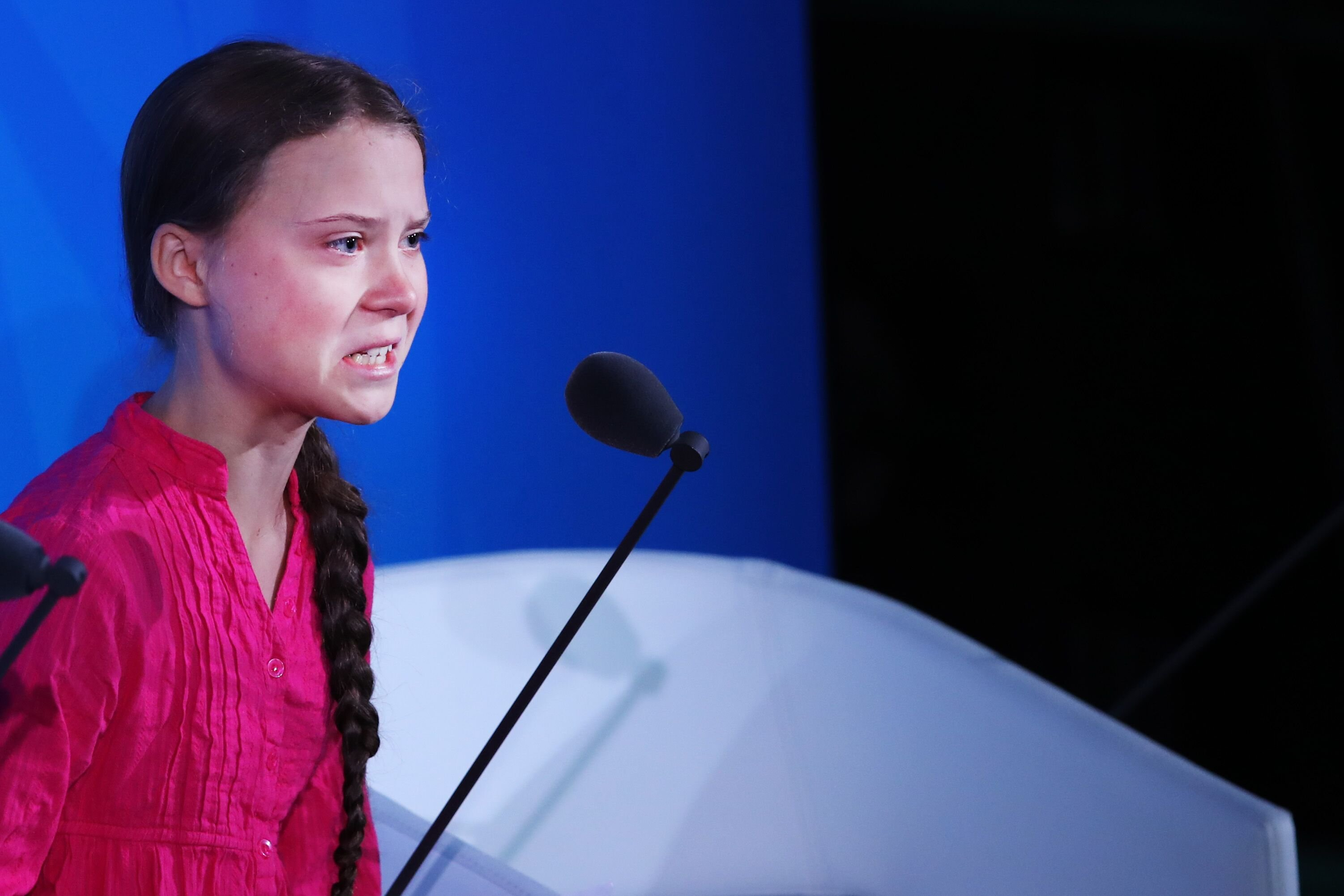 Greta Thunberg at the United Nations at a summit on climate change on September 23, 2019, in New York City | Photo: Spencer Platt/Getty Images