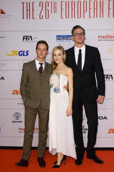Jan-Ole Gerster, Tom Schilling, Friederike Kempter, European Film Awards 2013   Quelle: Getty Images