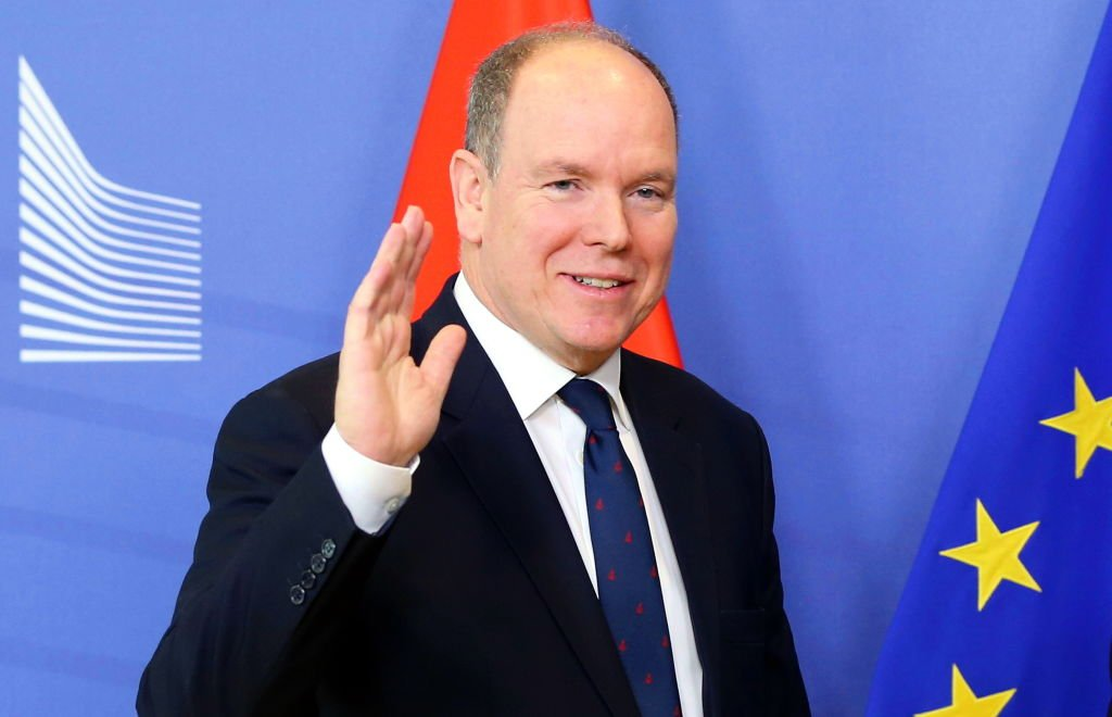 Albert II Prince of Monaco waving during his meeting at the European Commission in Brussels, Belgium on February 19, 2019 | Photo: Getty Images