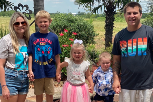 Colby Vondenstein and his family outdoors. | Source: GoFundMe/HelpColbyFightCovid