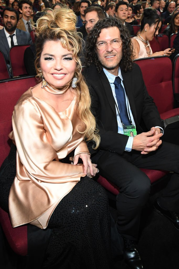 Shania Twain and Frédéric Thiébaud attend the 2019 American Music Awards at Microsoft Theater | Photo: Getty Images