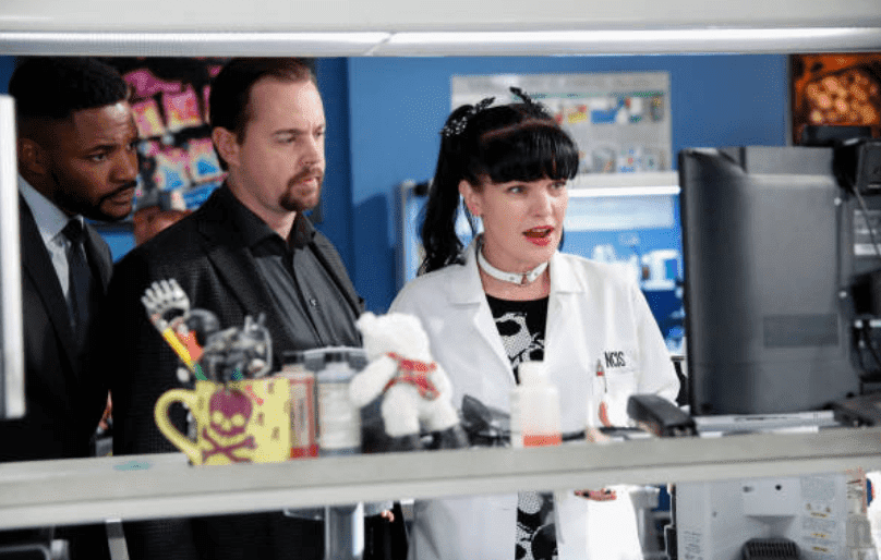 """Episode of NCIS called """"Keep Your Friends Close"""" which aired on Tuesday, Feb. 6 (8:00-9:00 PM, ET/PT) on the CBS Network. Stars of the show; Duane Henry, Sean Murray and Pauley Perrette act out their scenes   Source: Getty Images (Photo by Cliff Lipson/CBS via Getty Images)"""