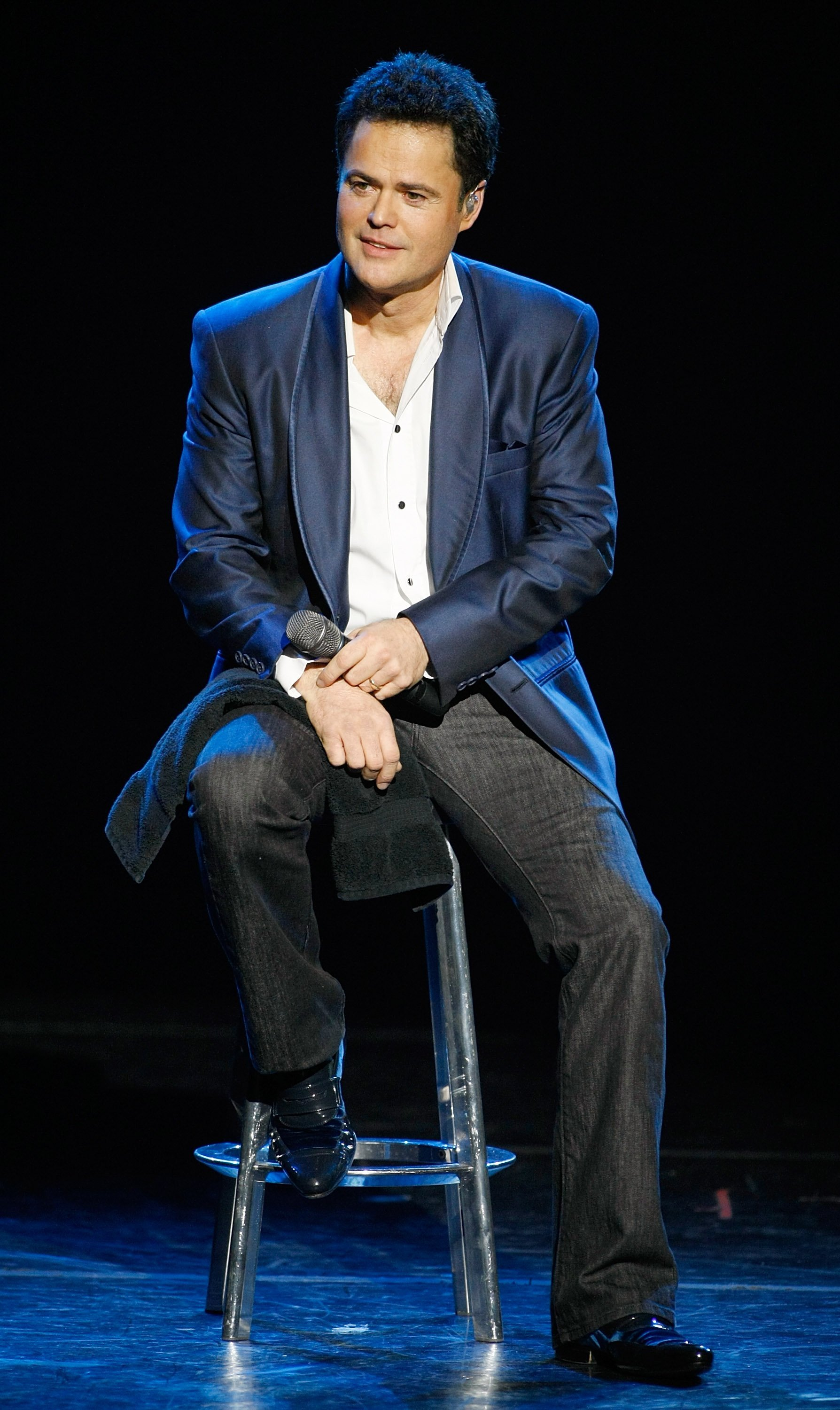 Donny Osmond performs in the Donny & Marie variety show in Las Vegas, Nevada on December 3, 2008   Photo: Getty Images