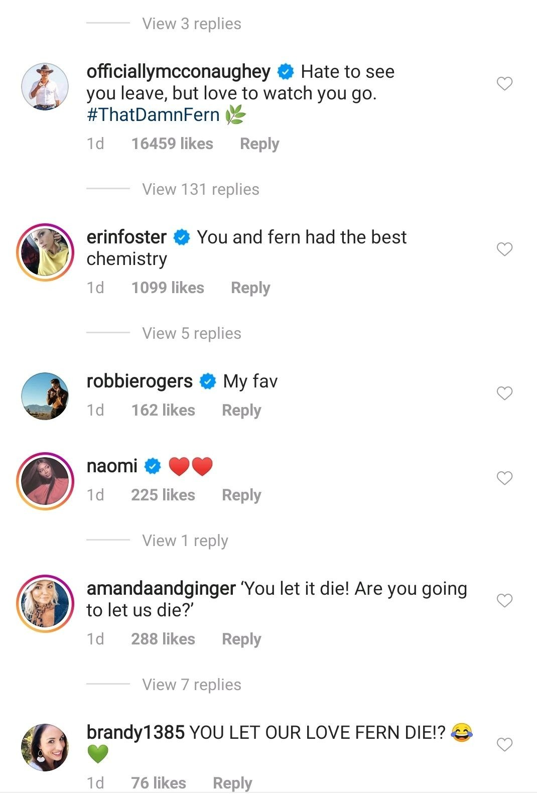 Screenshot of comments from Kate Hudson's Instagram post on July 28, 2020. | Photo: Instagram/Kate Hudson