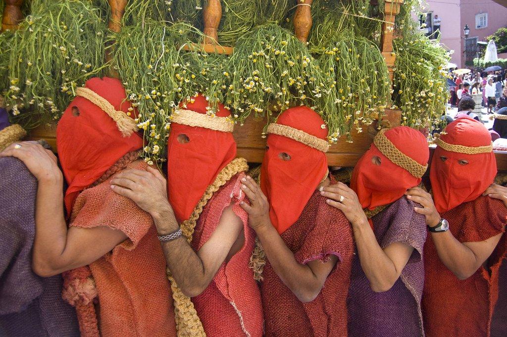 Procesión de Semana Santa en Guanajuato.| Fuente: Flickr