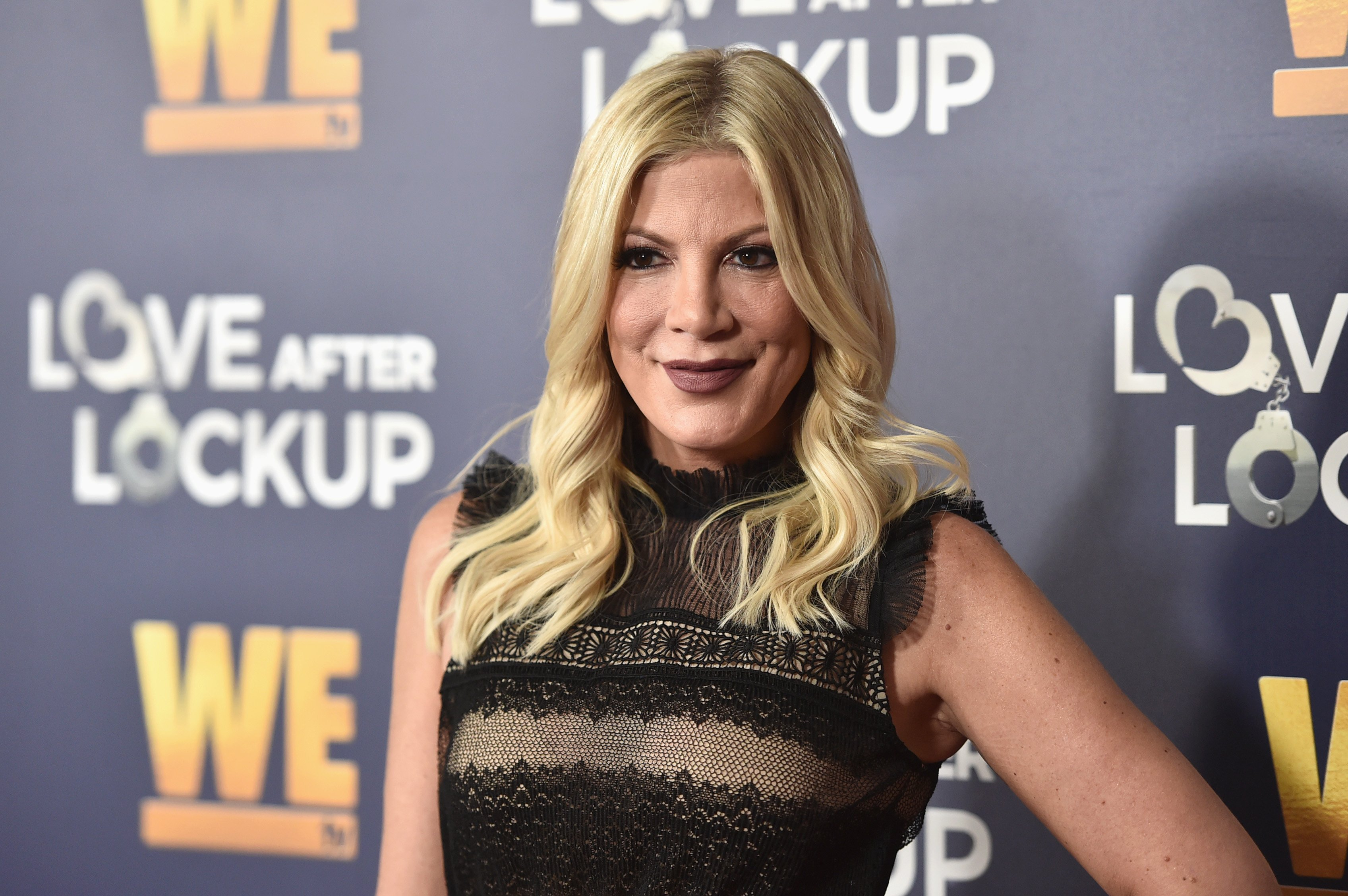 """Tori Spelling attends WE tv celebrates the return of """"Love After Lockup"""" with panel, """"Real Love: Relationship Reality TV's Past, Present & Future,"""" on December 11, 2018 