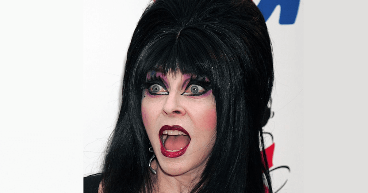 Cassandra Peterson as Elvira. I Image: Getty Images.