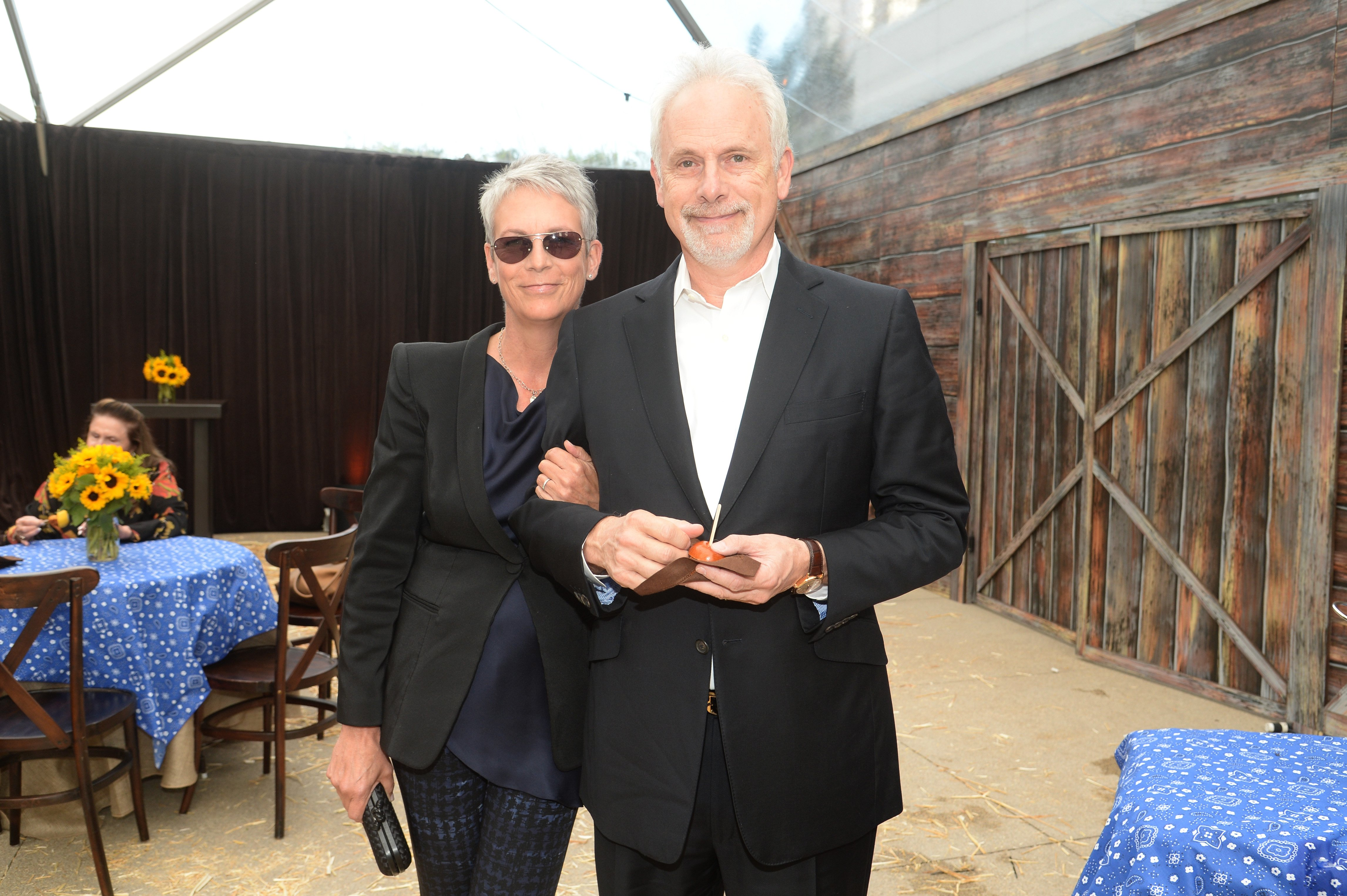 """Jamie Lee Curtis and Christopher Guest attend the Annenberg Space for Photography Opening Celebration for """"Country, Portraits of an American Sound"""" at the Annenberg Space for Photography on May 22, 2014 