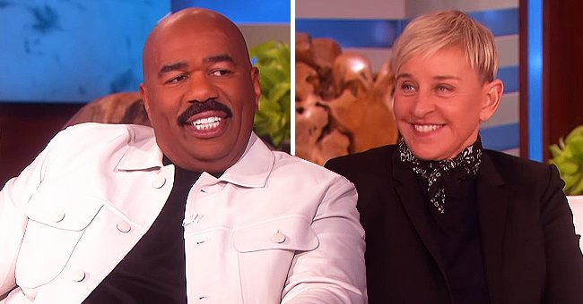 Steve Harvey Tells Ellen DeGeneres He Stopped Trying to Lose Weight and He'll Just Make More Money Instead
