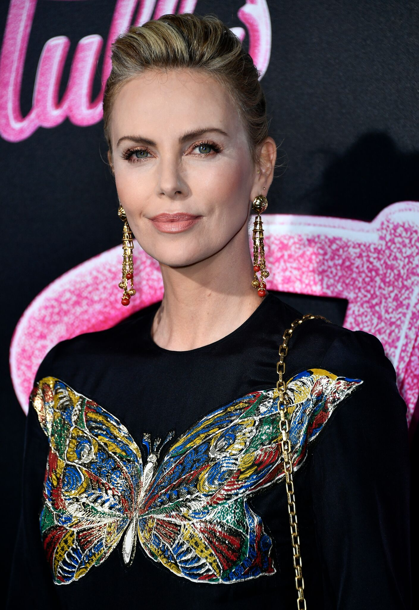 "Charlize Theron attends the Premiere Of Focus Features' ""Tully"" at Regal LA Live Stadium  