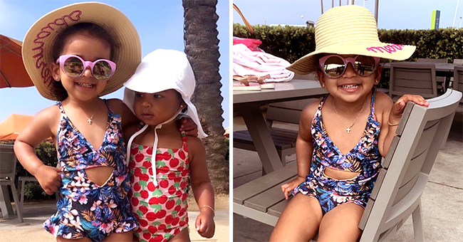 True Thompson and Dream Kardashian Rock Colorful Swimsuits & Hats in New Pics