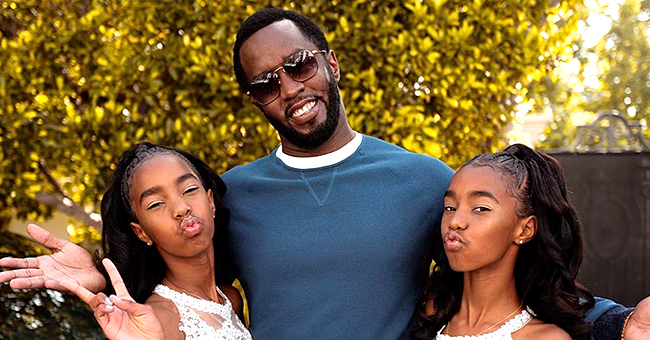 Diddy Gets Touching Birthday Wishes from Twin Daughters D'Lila and Jessie as He Turns 50