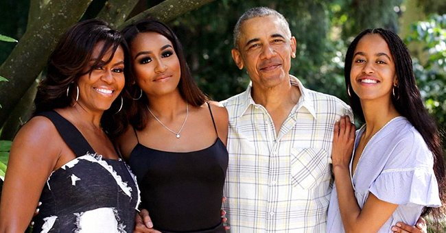 Michelle Obama Posts Thanksgiving Message to Her Followers with Beautiful Family Photo of Barack, Malia and Sasha