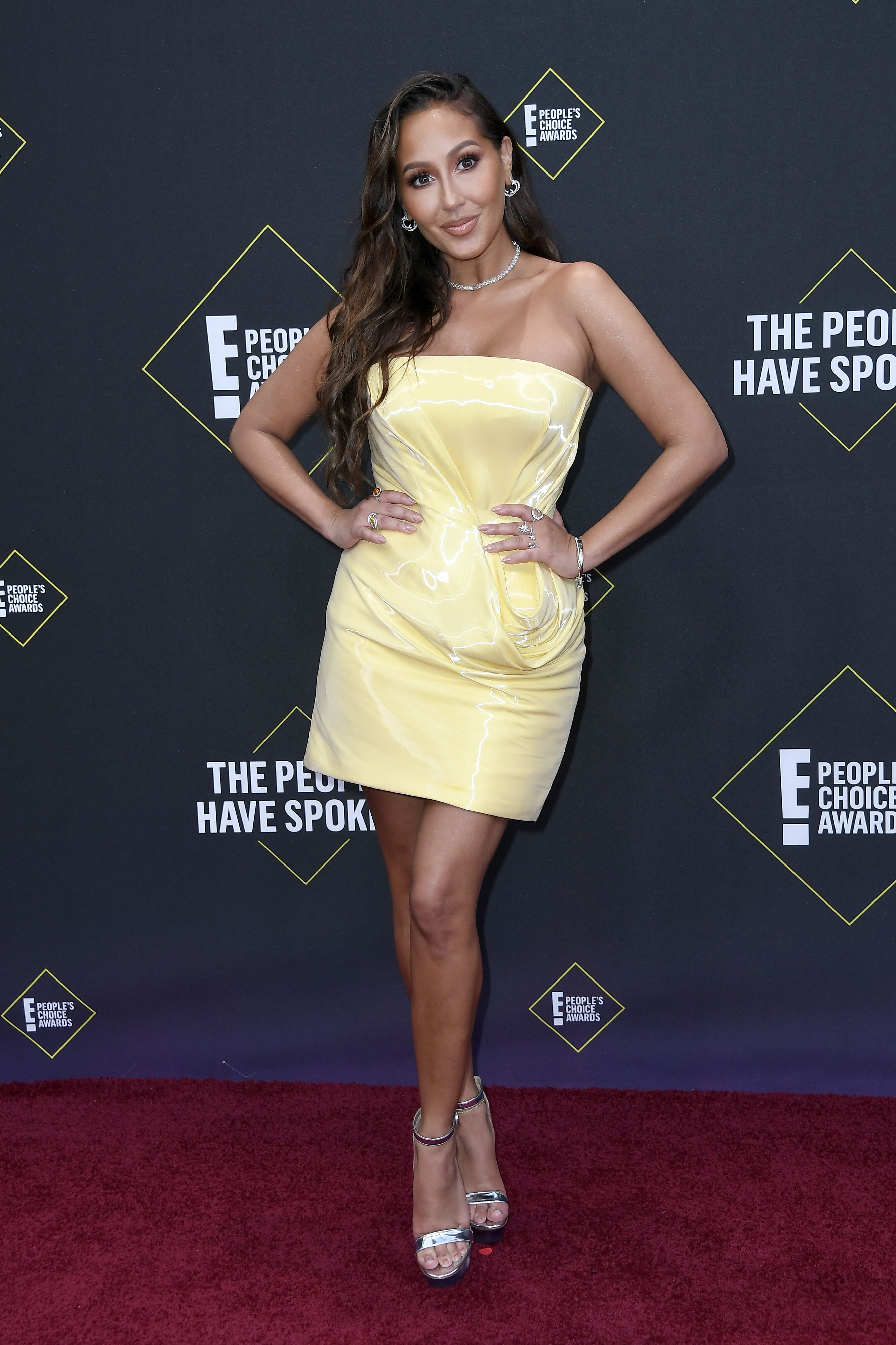 Adrienne Houghton attends the 2019 E! People's Choice Awards at Barker Hangar. | Source: Getty Images