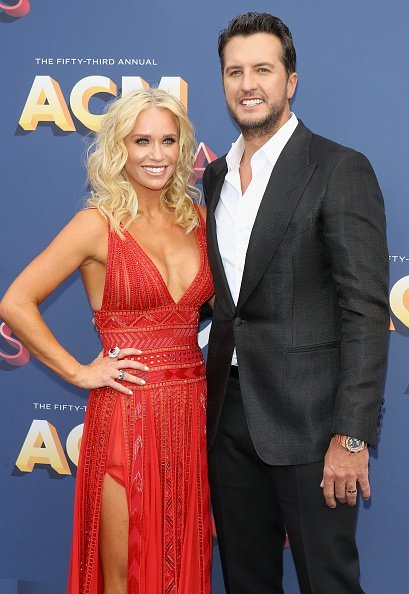 Caroline Boyer and Luke Bryan at the 53rd Academy of Country Music Awards on April 15, 2018 | Photo: Getty Images