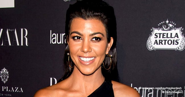 Kourtney Kardashian Puts Her Enviable Curves on Display in a New Photo Rocking a Latex Bikini