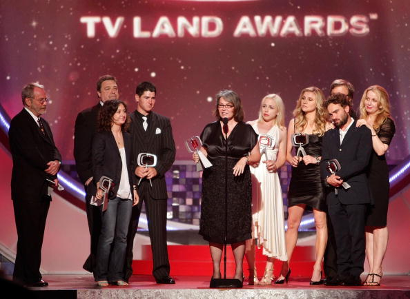 "The cast of ""Roseanne"" accept the Innovation Award at the TV Land Awards in Santa Monica, California on June 8, 2008 