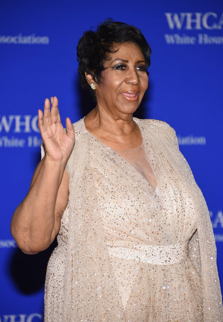 Aretha Franklin at the 102nd White House Correspondents' Association Dinner on April 30, 2016 in Washington, DC. |Photo: Getty Images