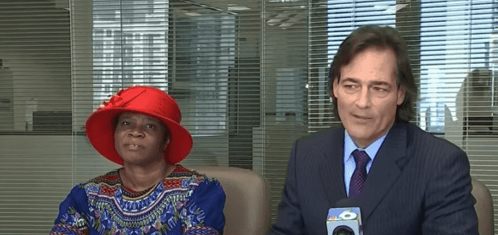 Marie Jean Pierre and her attorney Marc L. Brumer sitting for an interview with NBC 6 Miami. | Source: YouTube/NBC 6 South Florida