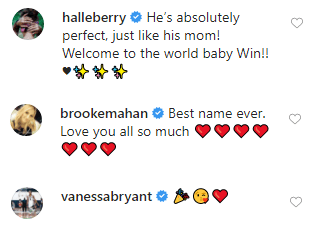 Halle Bery, Brooke Horrel Mahan and Vanessa Bryant send some love to Ciara and Russel Wilson after the birth of their son will | Photo: Instagram/Ciara