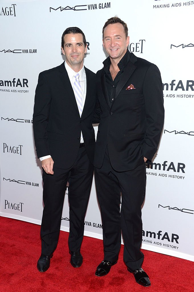 Damon Bayles and Clinton Kelly attend the 3rd annual amfAR Inspiration Gala. | Source: Getty Images