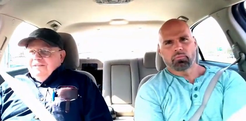 Kenneth Keene, US Army Veteran with Dementia and his son. | Photo: YouTube/ The Journey With ToughKenaMan.