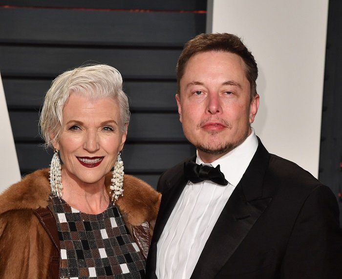 Maye and Elon Musk at Wallis Annenberg Center on February 26, 2017 in Beverly Hills, California. | Photo: Getty Images