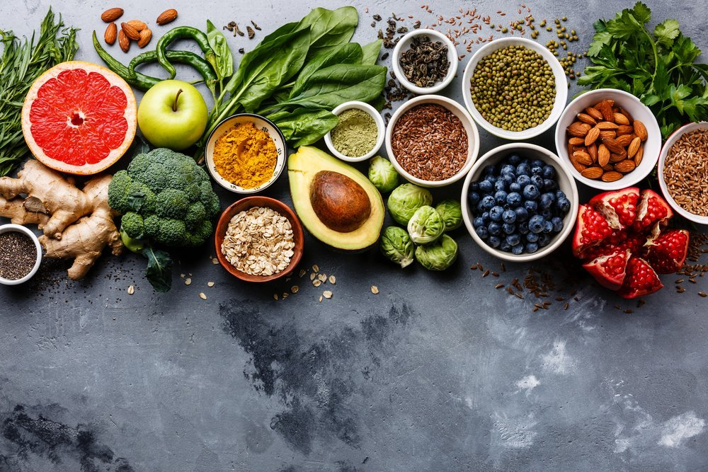 Healthy food clean eating selection. | Source: Shutterstock
