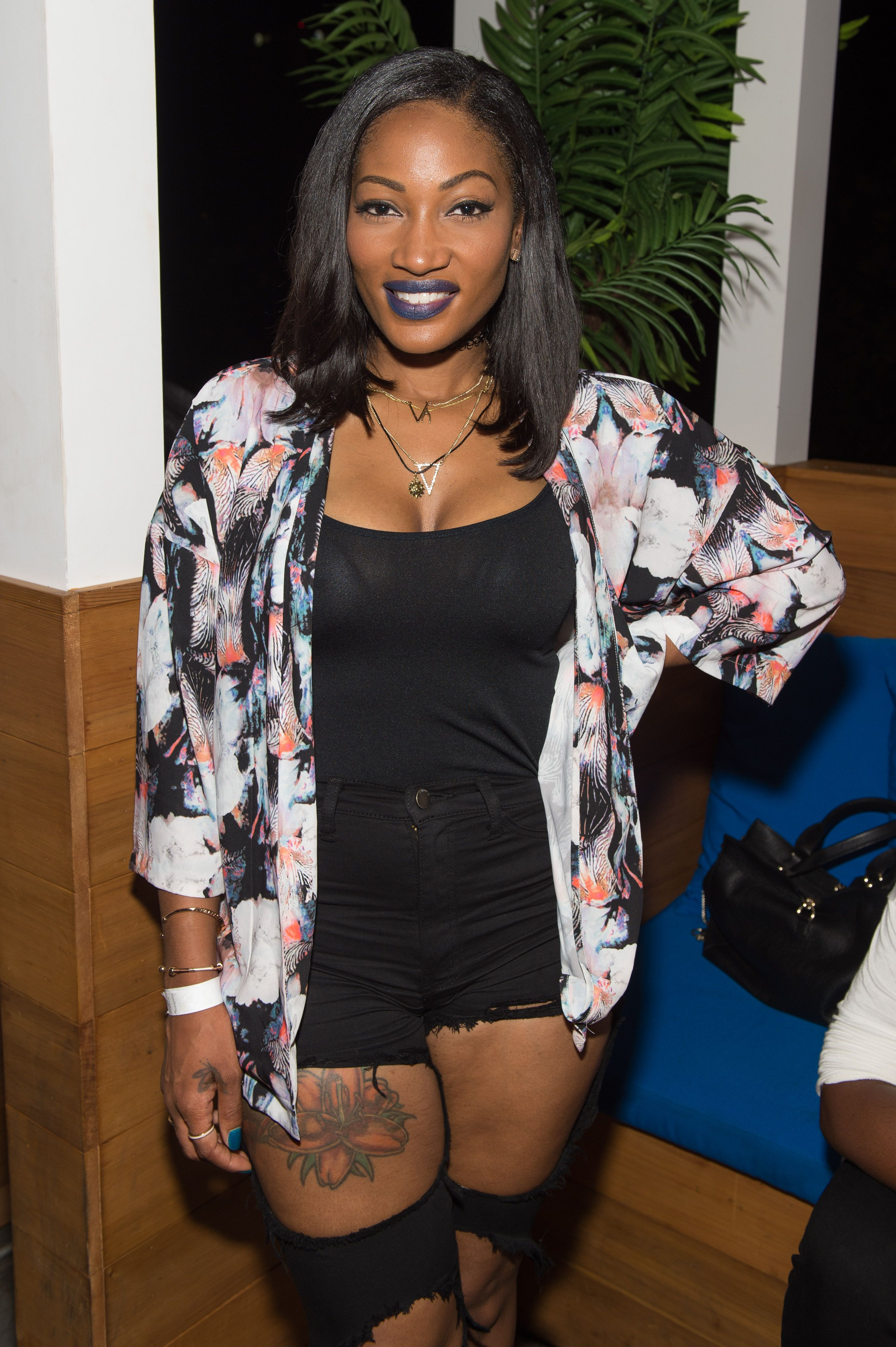"""Erica Dixon at the private screening of """"The Rap Game"""" on July 22, 2016 in Atlanta, Georgia 