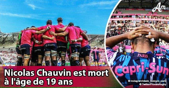 Nicolas Chauvin, le jeune espoir du rugby français, est mort tragiquement à l'âge de 19 ans