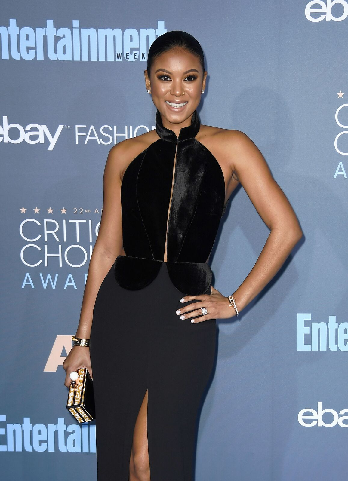 Eniko Parrish attends the 22nd Annual Critics' Choice Awards at Barker Hangar on December 11, 2016. | Source: Getty Images