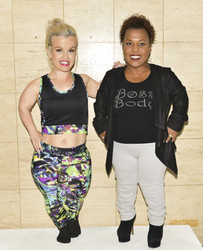 """""""Little Women of LA's"""" Terra Jole and designer Tonya Renee Banks pose for portrait at Tonya Renee Banks' debut of """"Lil Boss Body"""" clothing line at Fathom on March 13, 2017 