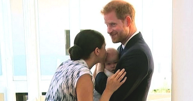 Prince Harry Cradles Baby Archie While Meghan Markle Kisses Him in Unseen Video Highlighting Royal South Africa Tour