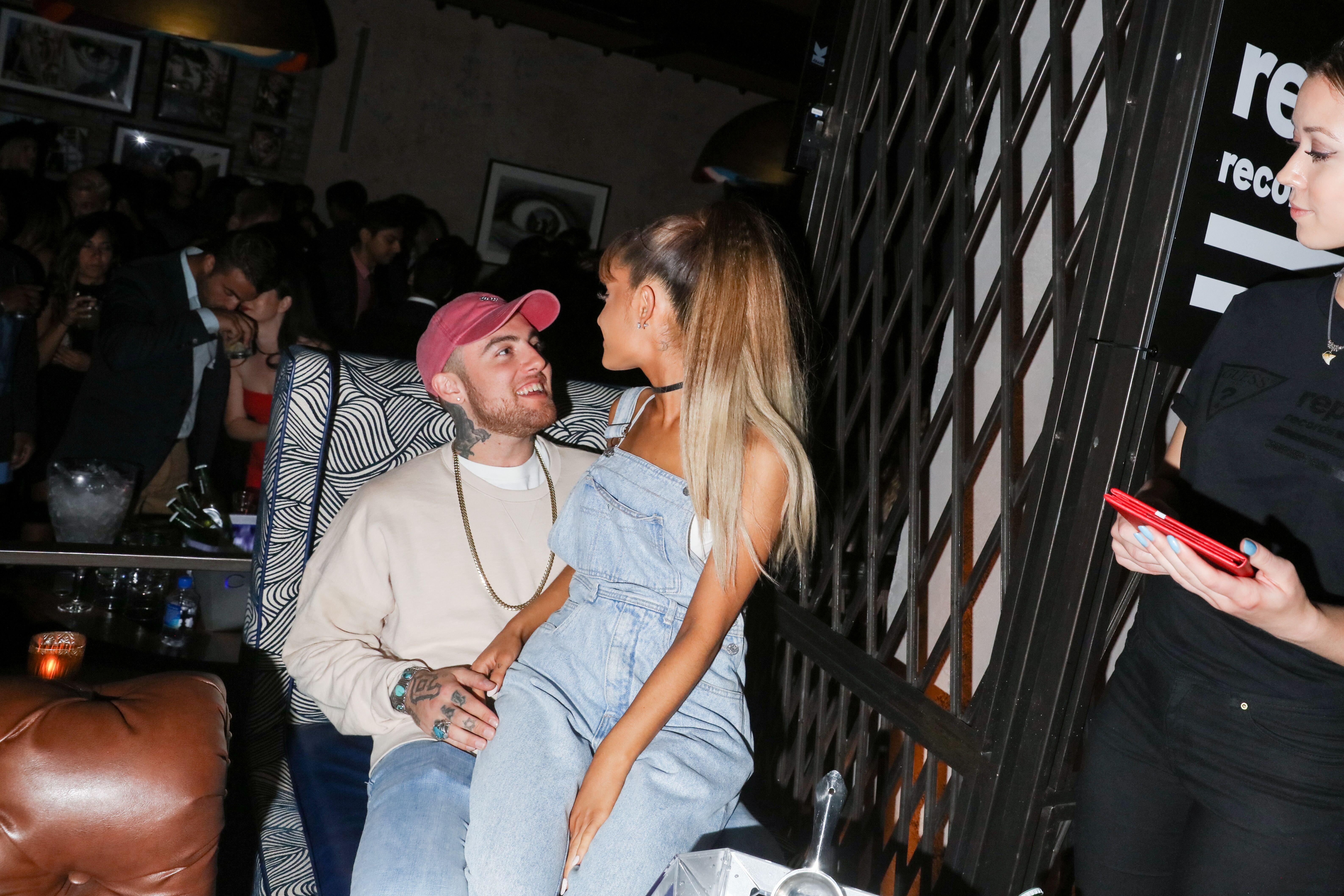 Ariana Grande et Mac Miller. l Source : Getty Images