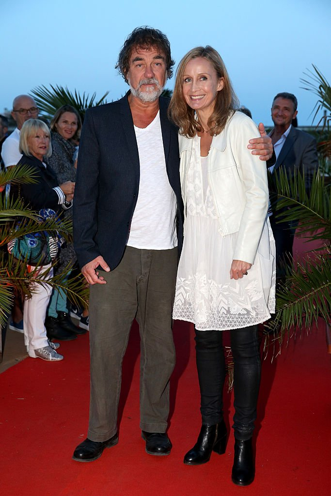 Olivier Marchal et Catherine Marchal en 2015. l Source : Getty Images