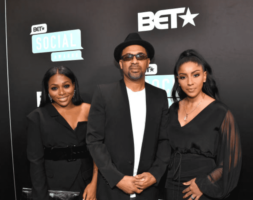 Bria Epps, Mike Epps, and Kyra Robinson arriveat the BET Social Awards on March 3, 2019, in Atlanta, Georgia Source:Marcus Ingram/Getty Images for BET