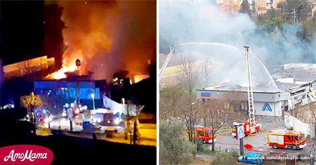 Une explosion à Grasse : deux employées d'un supermarché sorties indemne de l'incendie